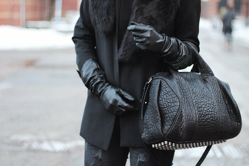 mango blazer-distressed jeans-boyfriend blazer-leather gloves-alexander wang bag-rocco
