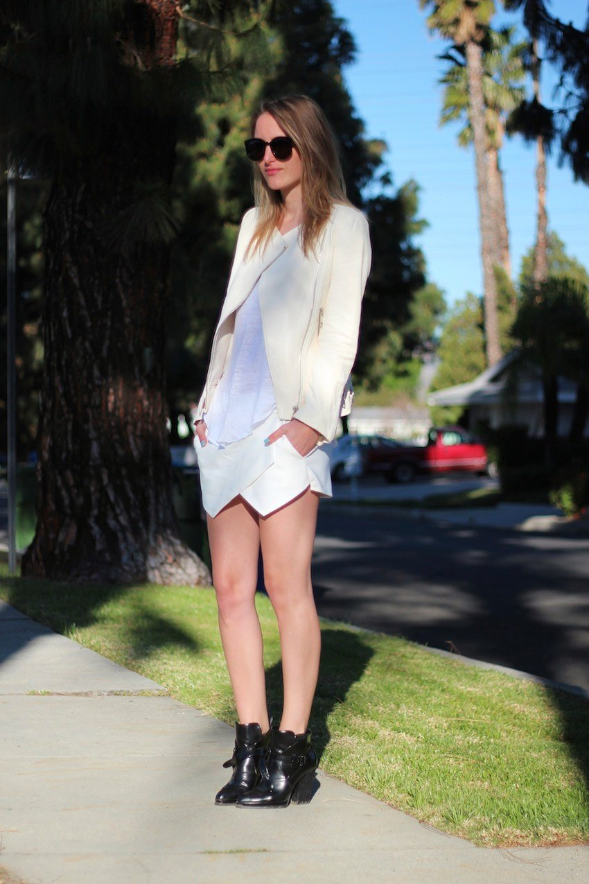 white leather zara jacket
