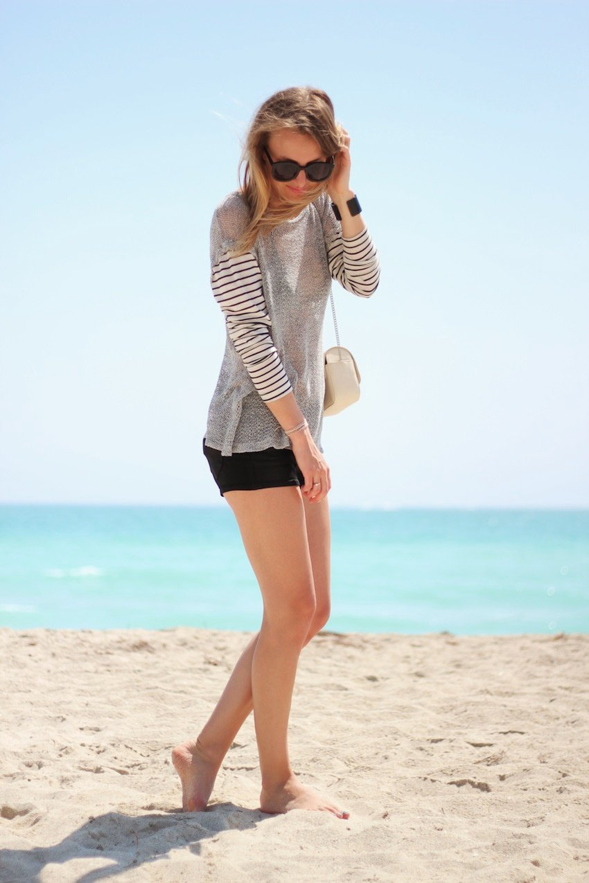 lna striped top