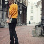 leather flare pants goldsign
