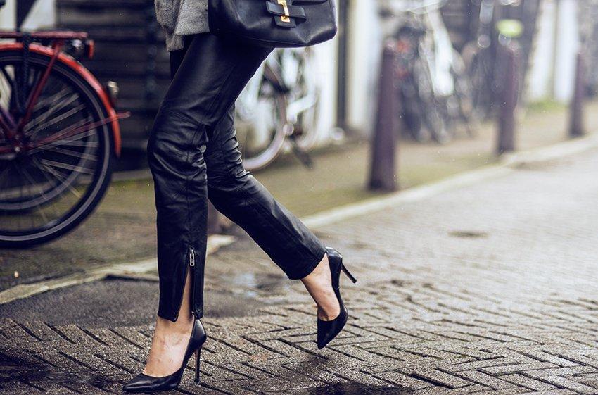 hm leather pants studio