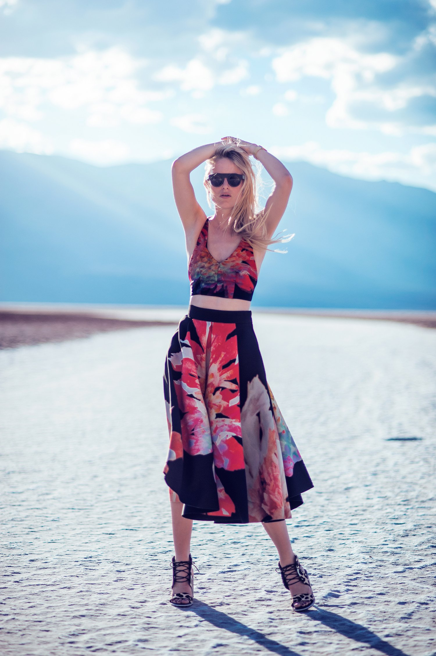 hm floral skirt