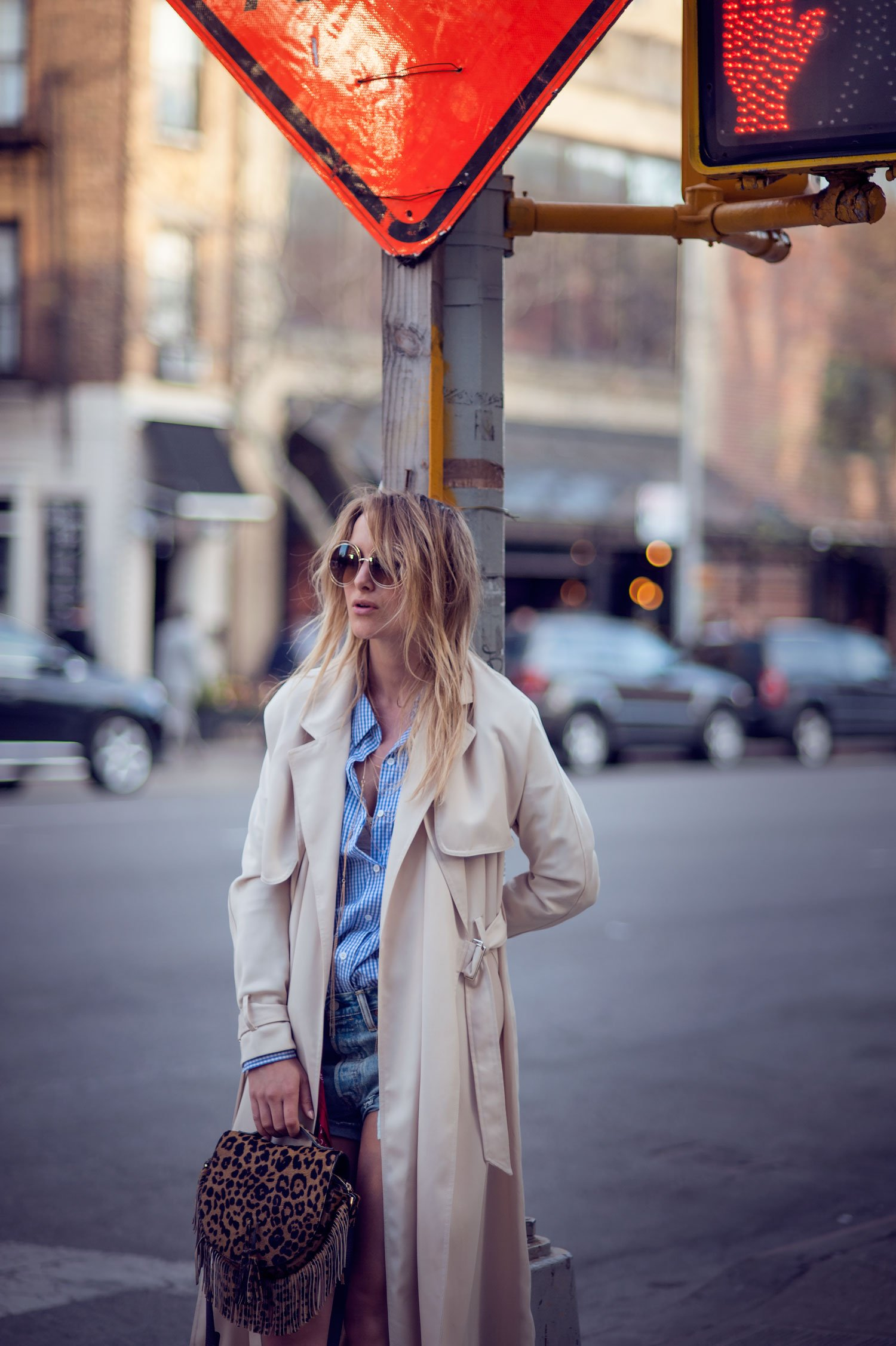 camel trench coat fashion blogger